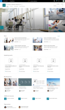 Contoso Market Research – SharePoint Communications Sites in Office 365